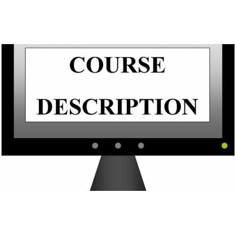 کورس دیسکریپشن یا سرفصل دروس (Course Description) ادبیات انگلیسی